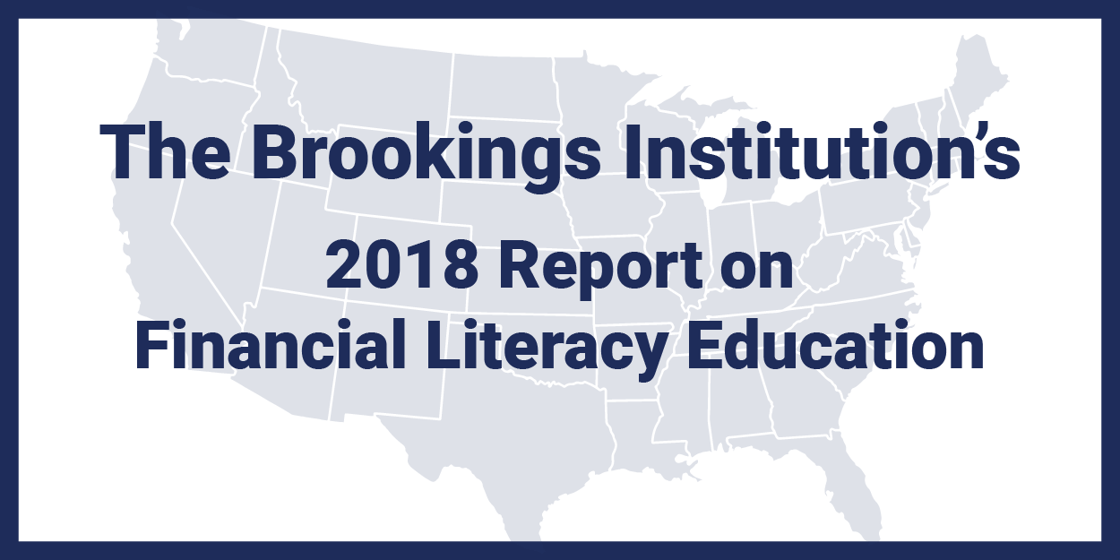 Brookings Institution 2018 Report in FinLit Ed